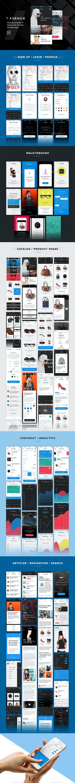 V Avenue Mobile UI Kit for Photoshop - User Interfaces Web Elements