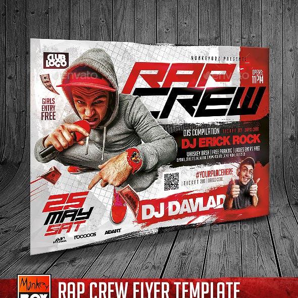 Rap Crew Flyer Template