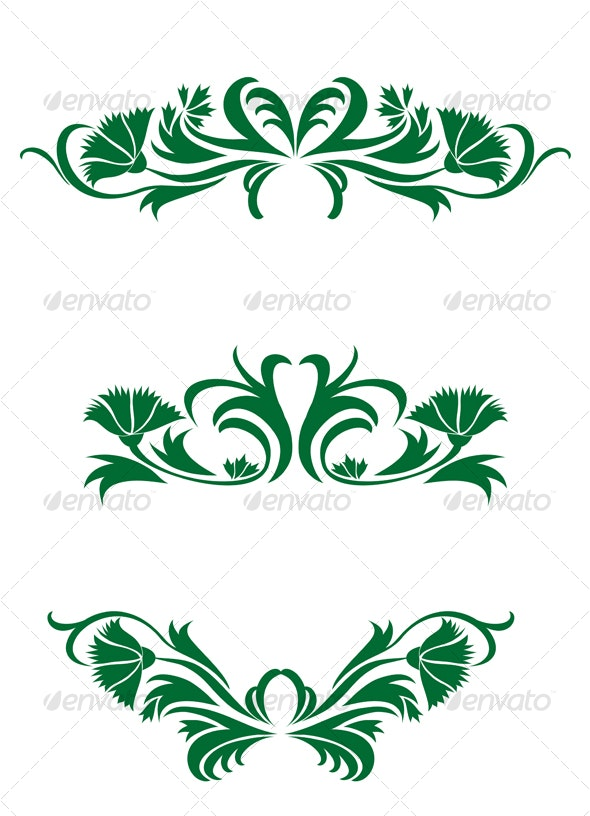 Flourish decorations - Flourishes / Swirls Decorative