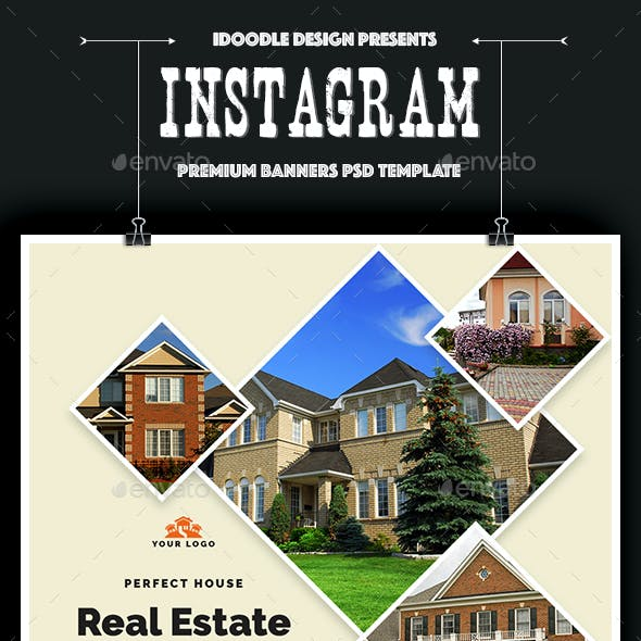 Real Estate Instagram Banners Ads - 15 PSD