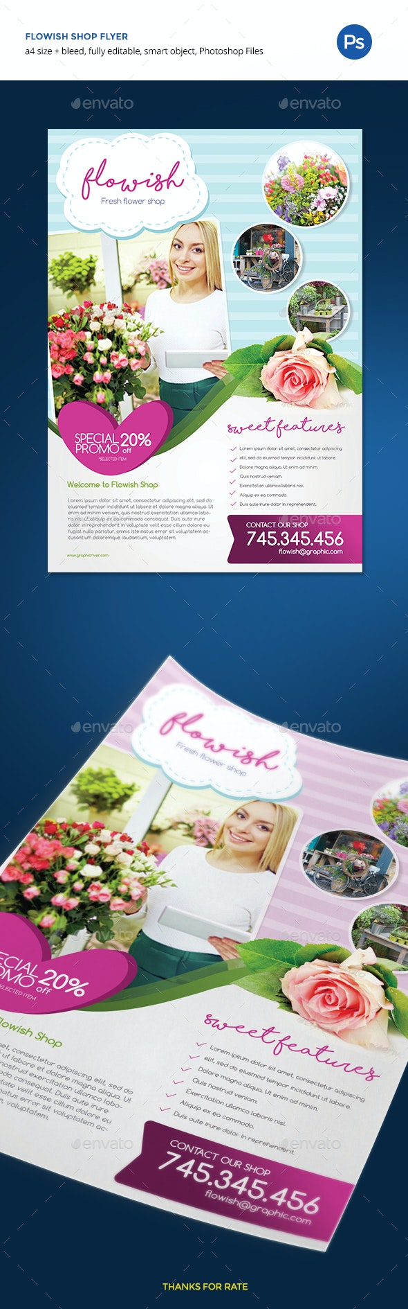 Flowish Shop Flyer - Commerce Flyers