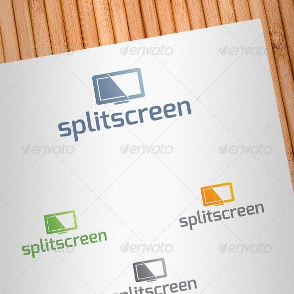 Split Screen Logo Template