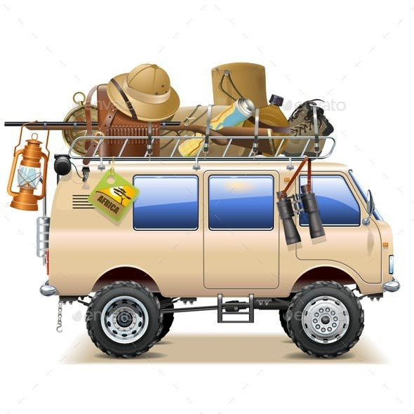 Travel Car with Safari Accessories