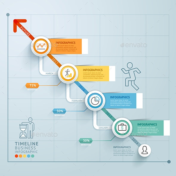 Business Timeline Infographics Template. - Infographics