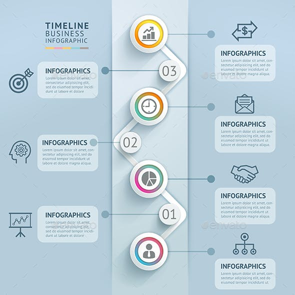 Business Timeline Infographics Template.