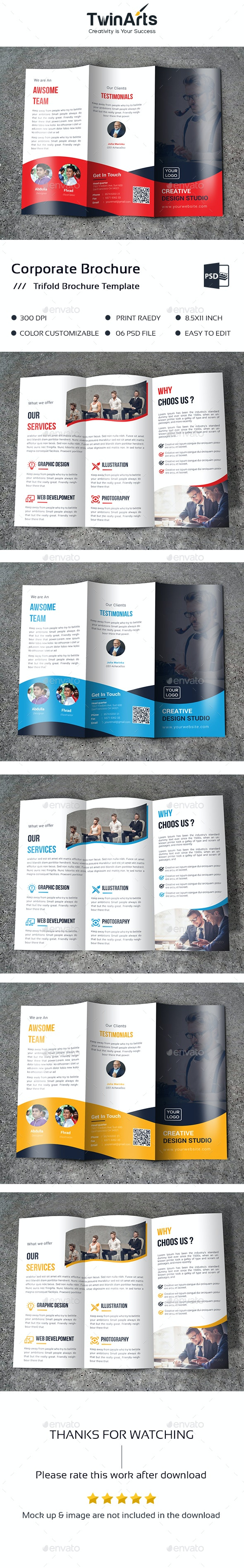 Business Tri-Fold Brochure - Brochures Print Templates