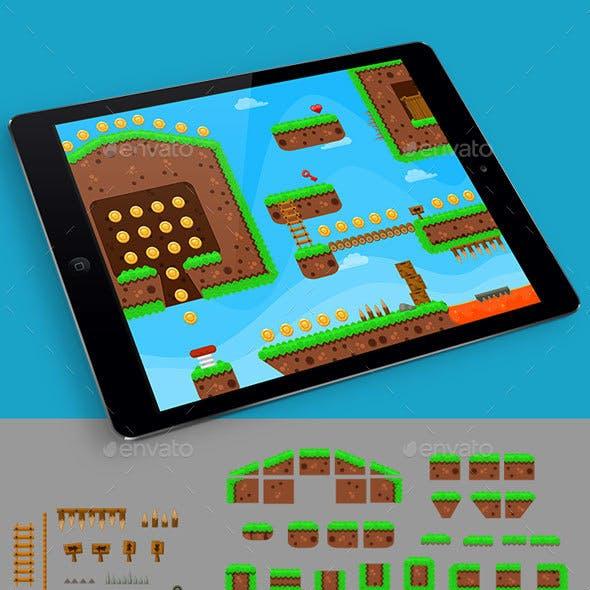 Grass Game Platformer Tilesets