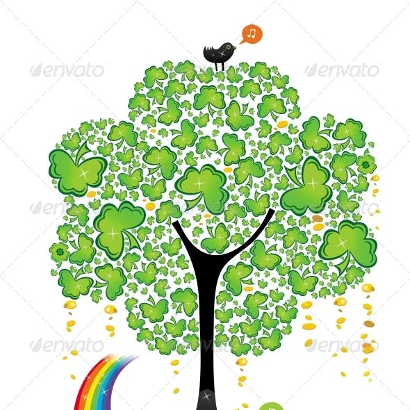 St. Patrick's Day clover tree