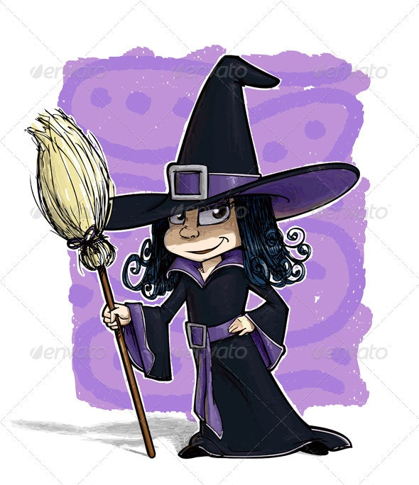 Little Witch - Characters Vectors