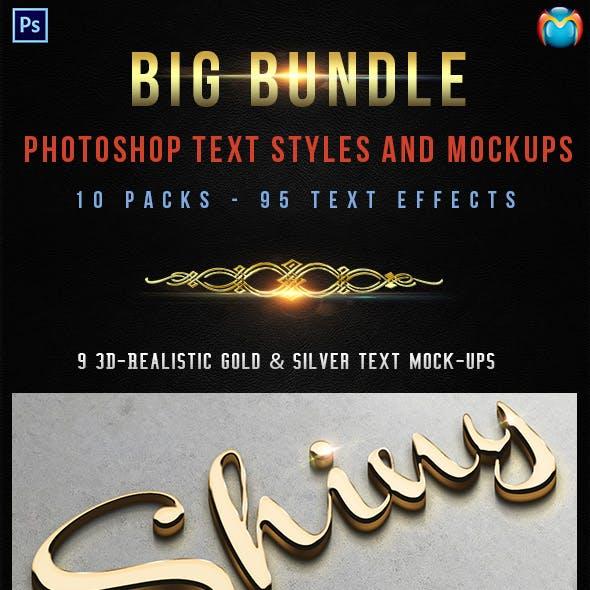95 Photoshop Text Styles & Mockups Bundle 4