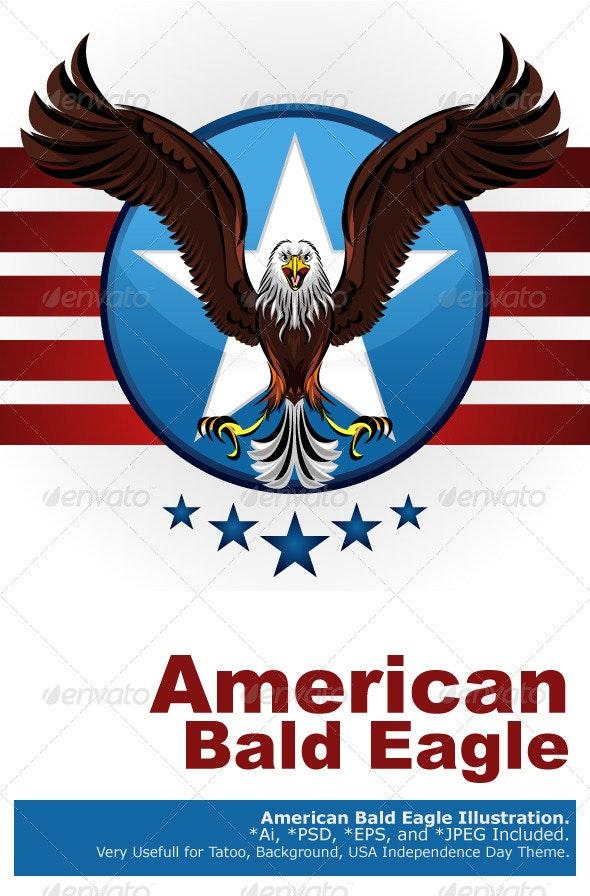 American Bald Eagle - Animals Characters
