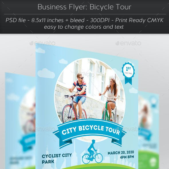 Business Flyer: Bicycle Tour
