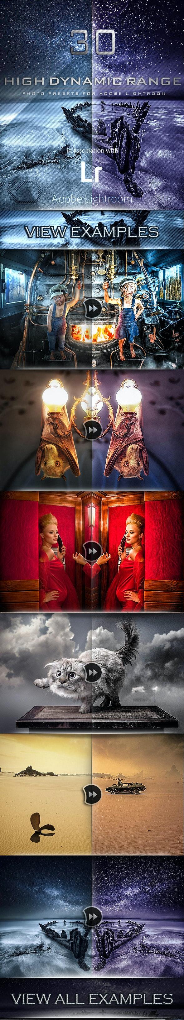 30 HDR PRO Lightroom Presets - HDR Lightroom Presets