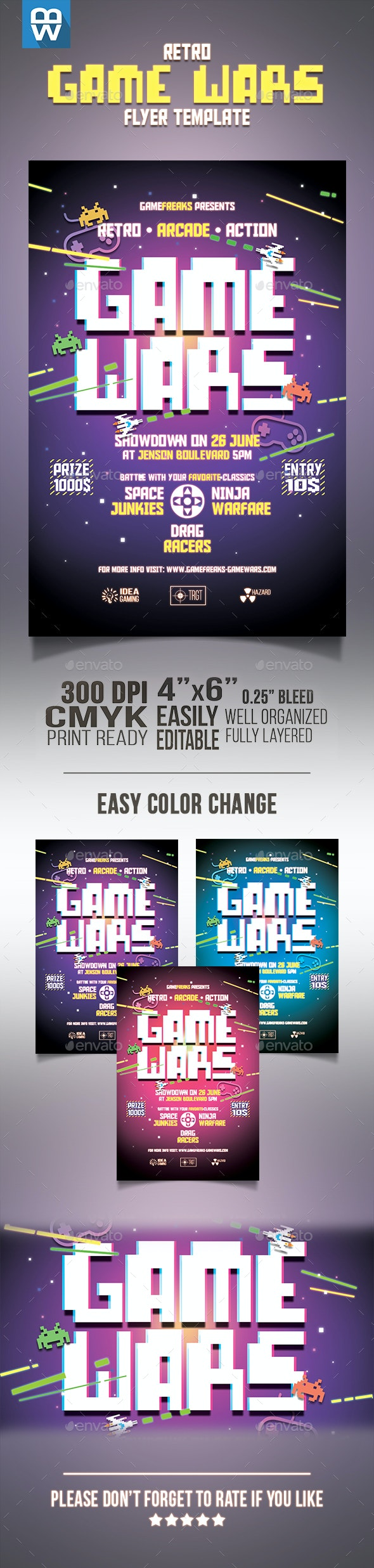 Retro Game Wars Flyer - Miscellaneous Events