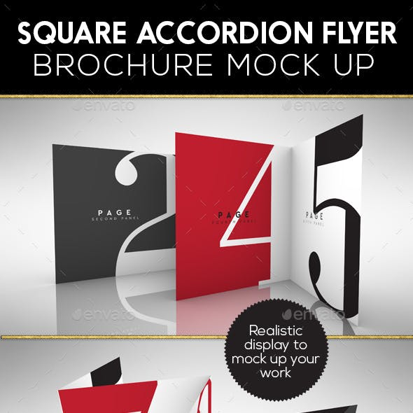 Accordion Square Flyer or Brochure