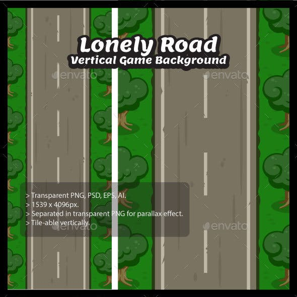 Lonely Road Vertical Game Background
