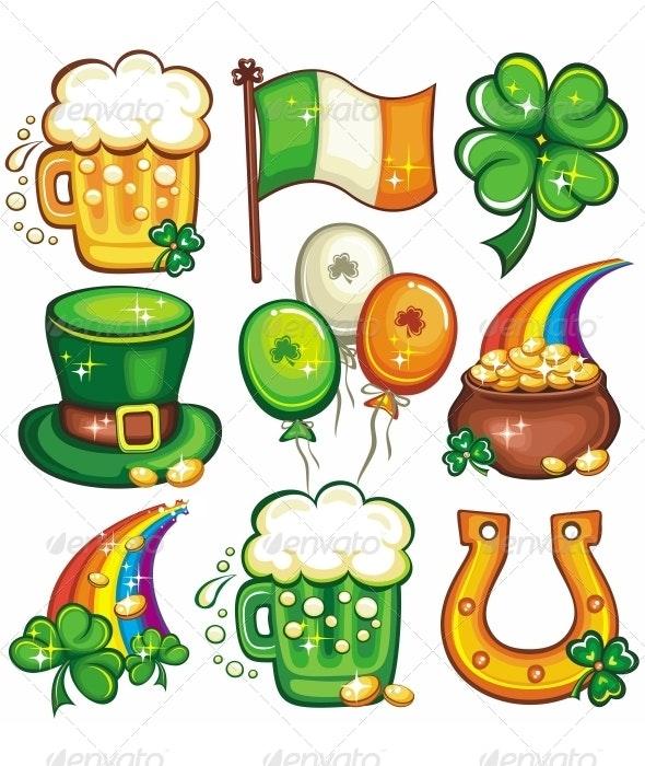 St. Patrick's Day icon set series - Miscellaneous Seasons/Holidays