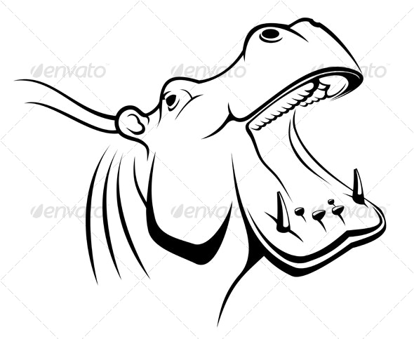 Hippopotamus head - Animals Characters