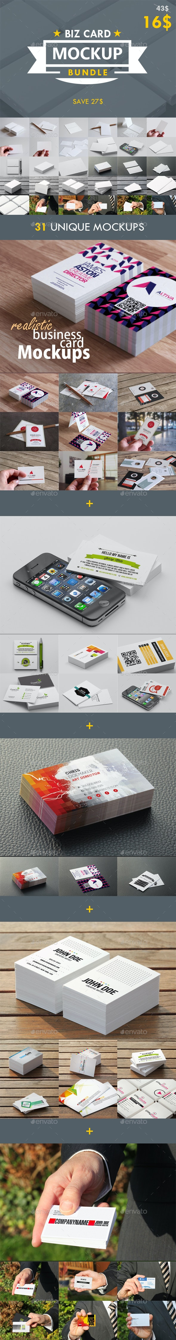 Business Card Mockup Bundle - Business Cards Print