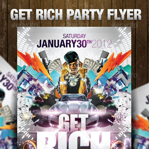 Get Rich Party Flyer