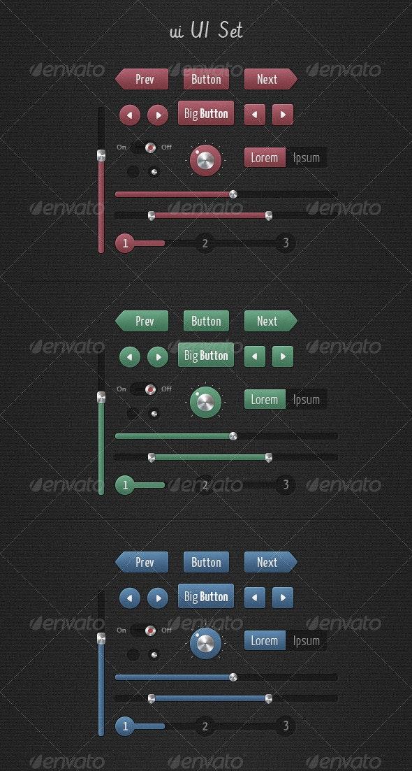 ui UI Set - User Interfaces Web Elements
