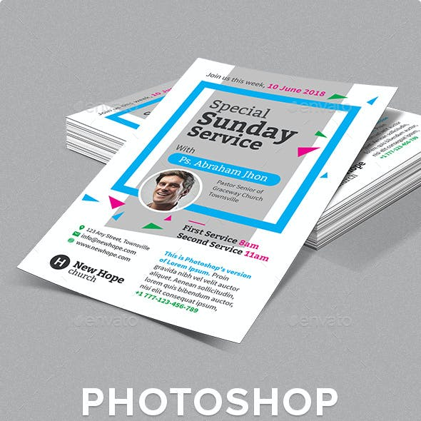 Special Sunday Service Flyer Template