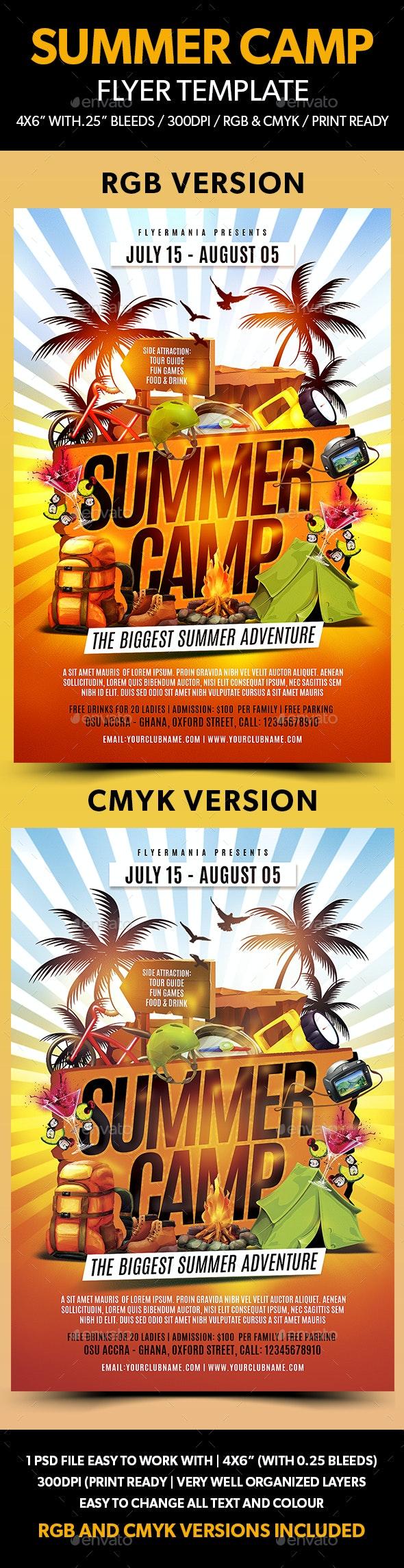 Summer Camp Flyer Template - Flyers Print Templates