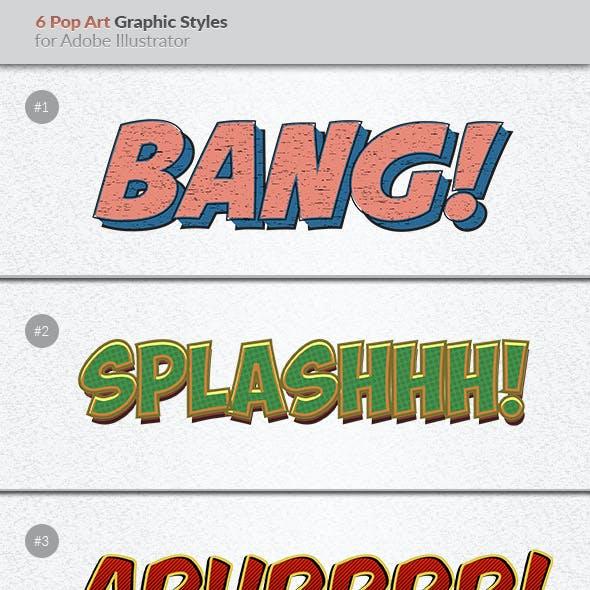 6 Pop Art Graphic Styles for Illustrator