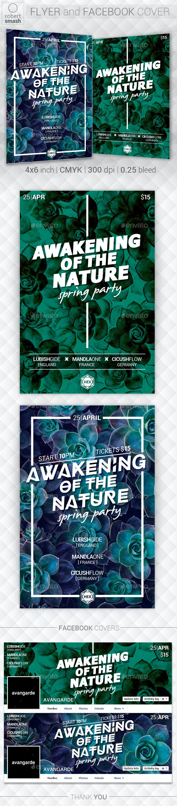 Awakening of Nature - Music Event Flyer - Clubs & Parties Events