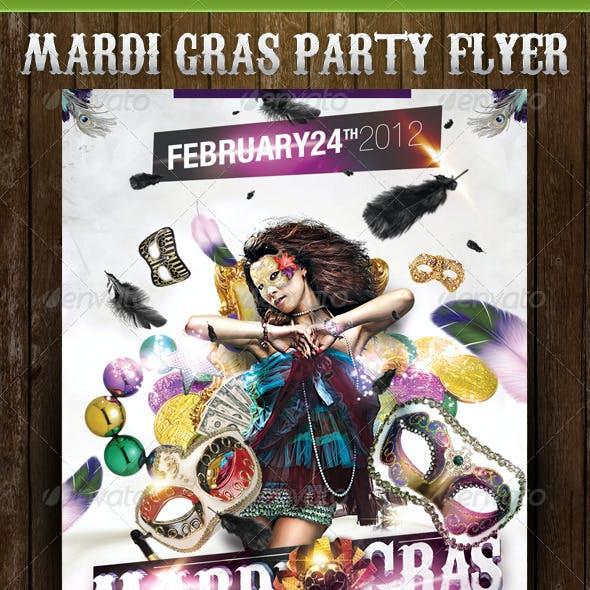 White Mardi Gras Party Template
