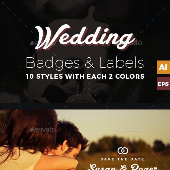Wedding Badges / Labels