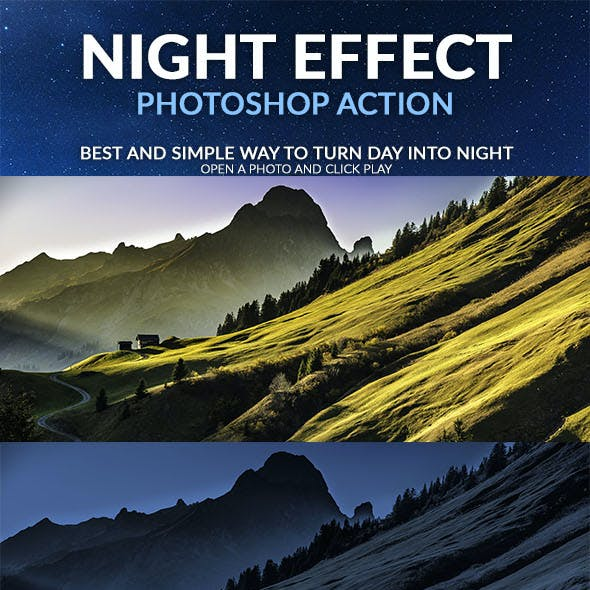 Night Effect Photoshop Action