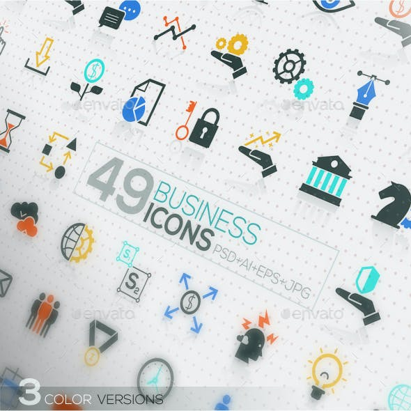49 Modern Icons For Business And SEO