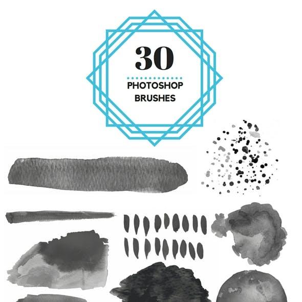30 Watercolor Brushes