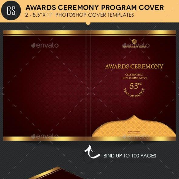 Awards Ceremony Program Cover Template