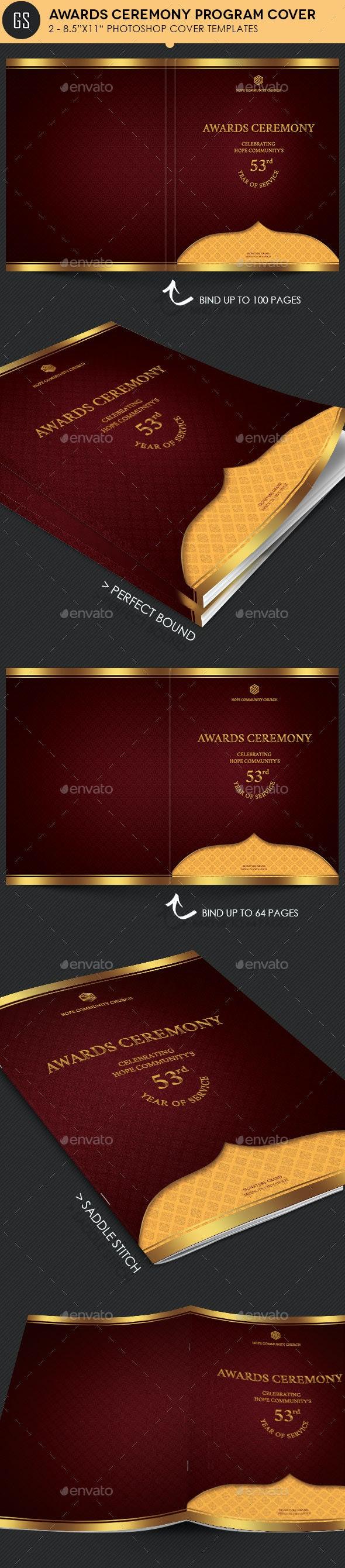 Awards Ceremony Program Cover Template  - Informational Brochures