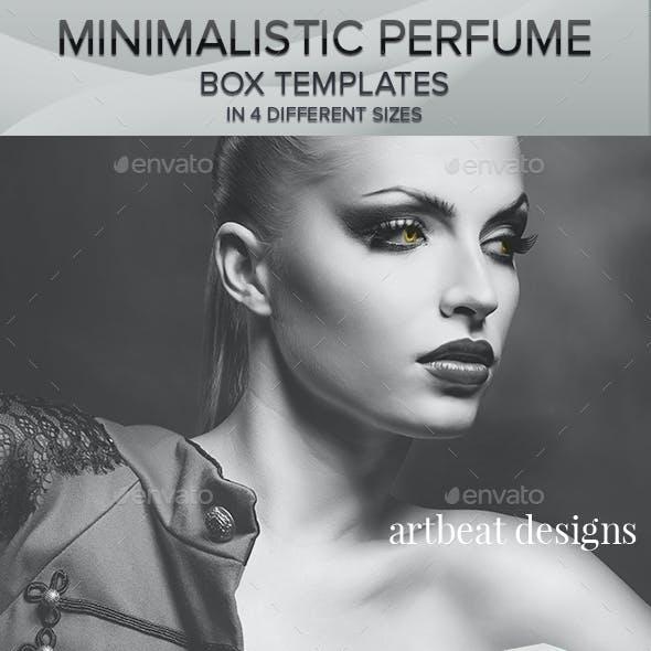 Minimalistic Perfume Box Packaging Templates