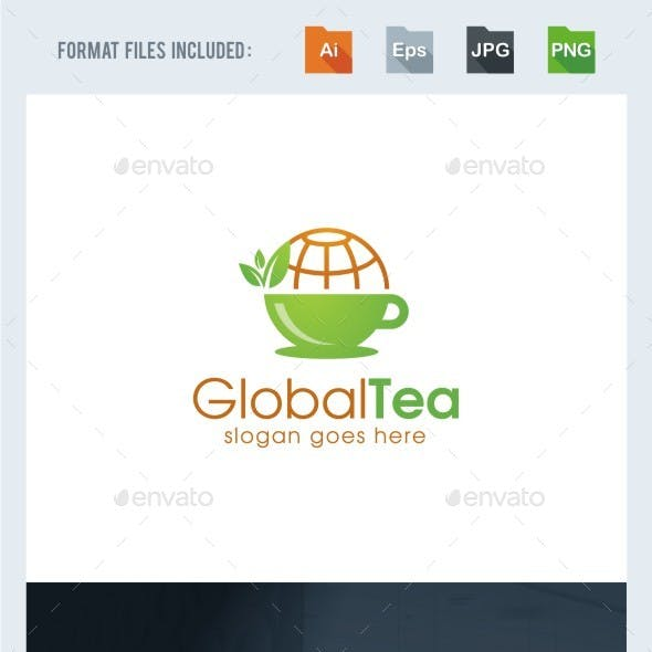 Global Tea Logo Template