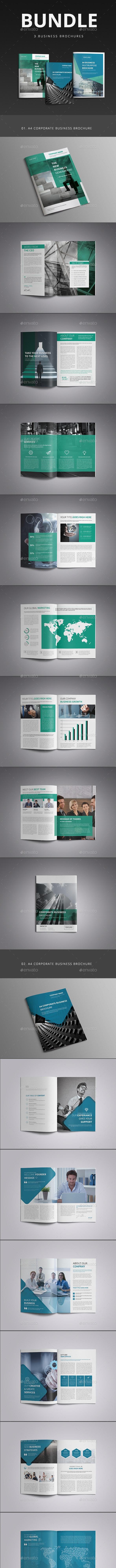 A4 Corporate Business Brochure Bundle  - Corporate Brochures