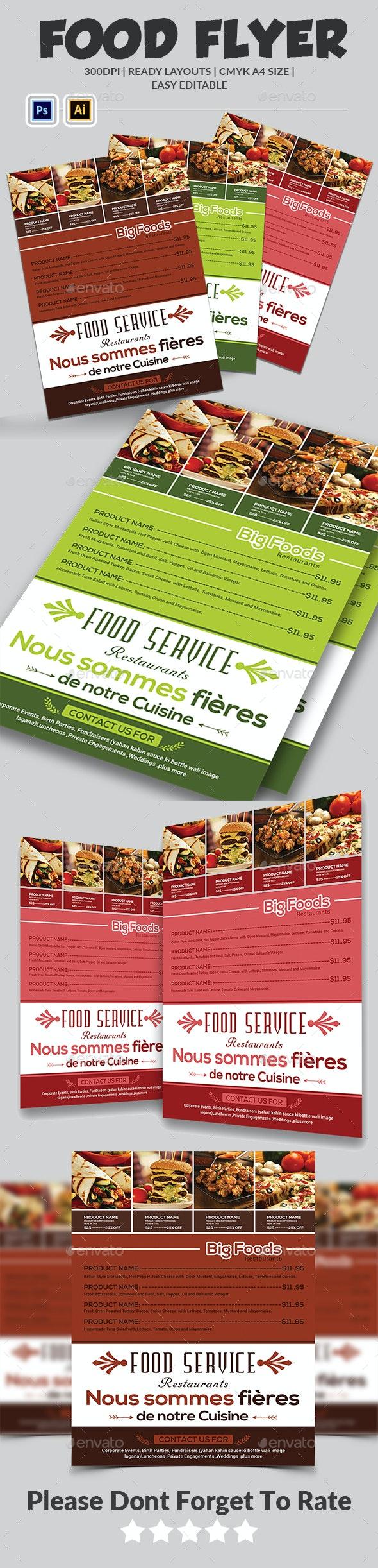 Food Flyer Template - Restaurant Flyers