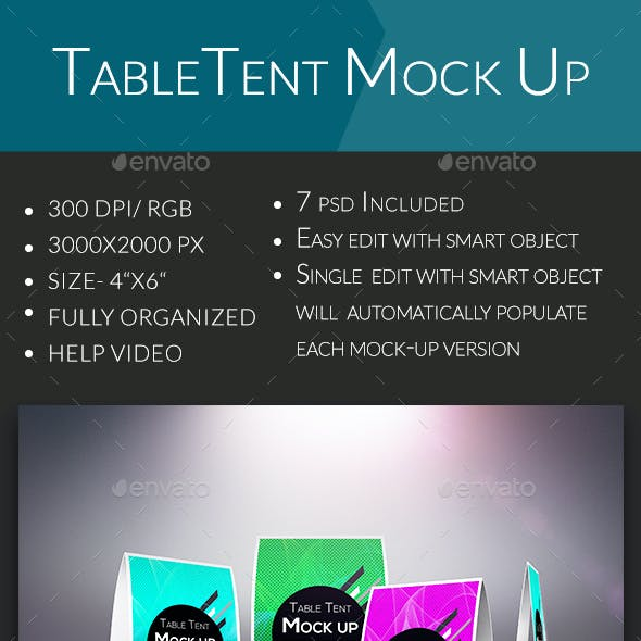 Table Tent Mock Up