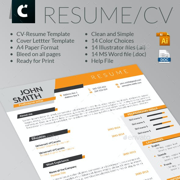 Dinamic looking Resume-CV & Cover Letter Template