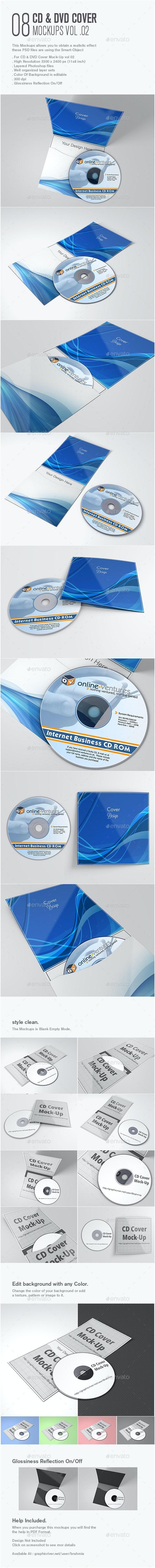 CD & DVD Cover Mock-Up vol 02 - Stationery Print