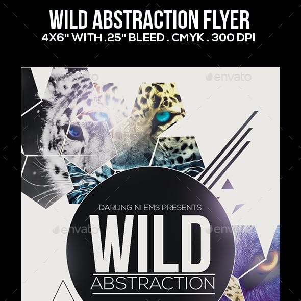 Wild Abstraction Flyer
