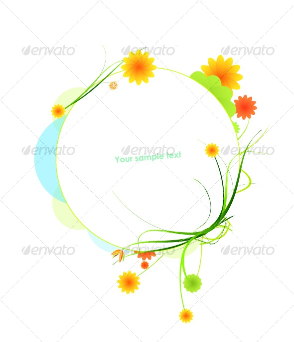 Floral frame - Flowers & Plants Nature