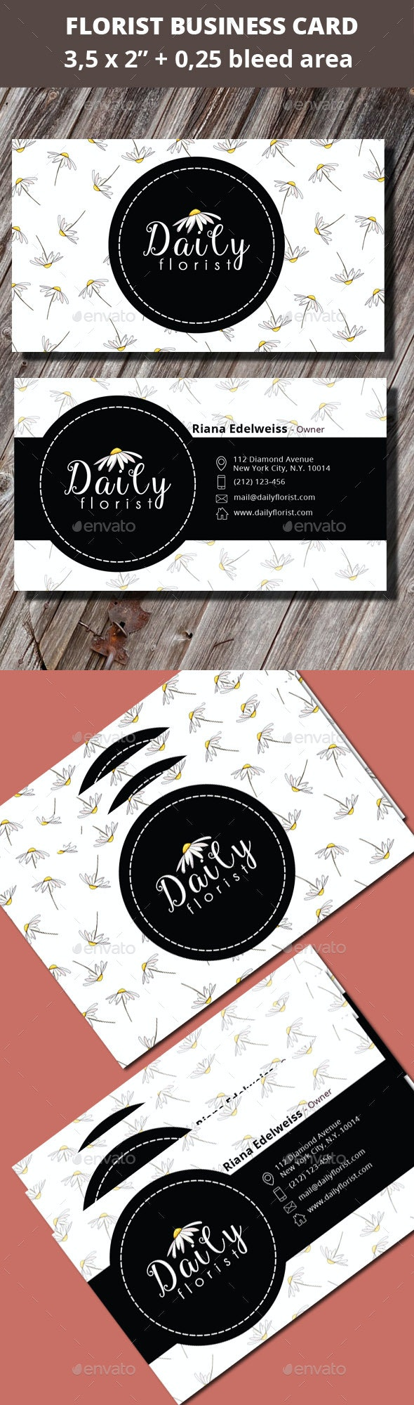 Florist Business Card - Industry Specific Business Cards