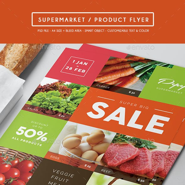 Supermarket / Product Flyer