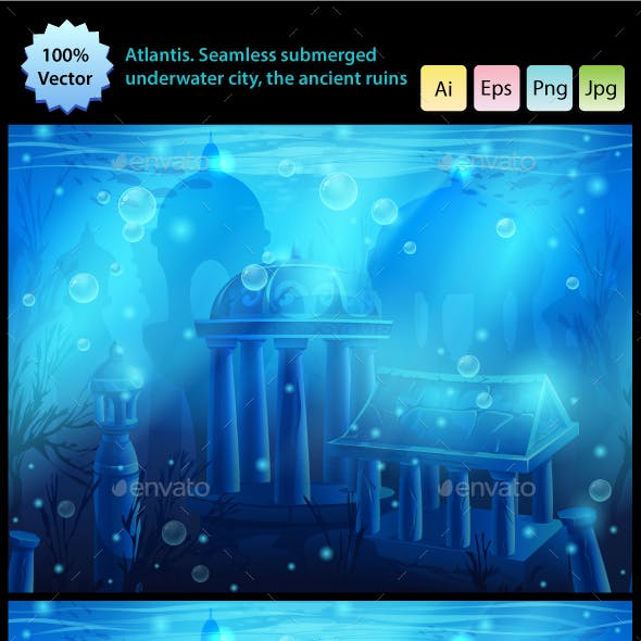 Atlantis Seamless Submerged Underwater City