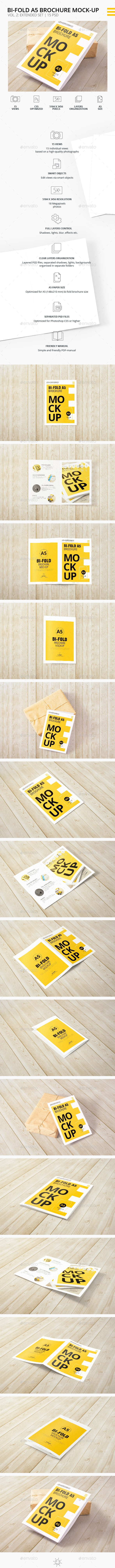 Bi-Fold A5 Brochure | Leaflet  Mock-up Vol.2. Medium set - Brochures Print