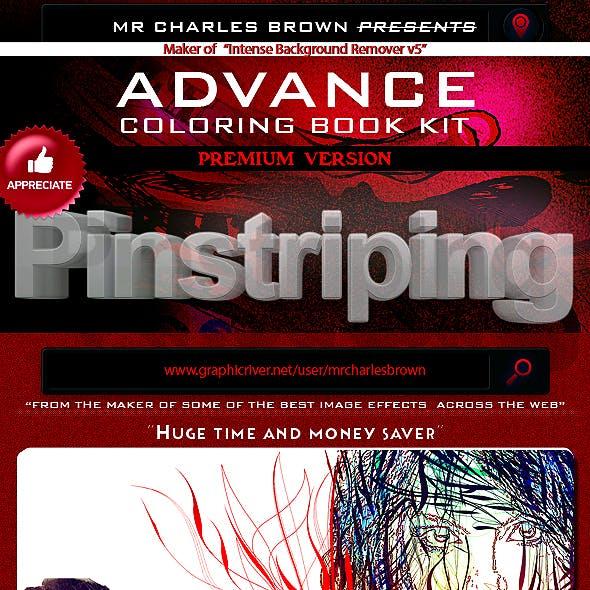 Advance Coloring Book Kit 4 – Pinstriping